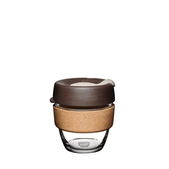 Skleněný KeepCup Brew Cork Almond - 227 ml s korkem